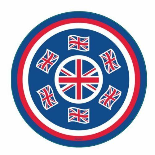 GB Plat Rond Grande Bretagne Union Jack Drapeau Plateau Design 33 Cm