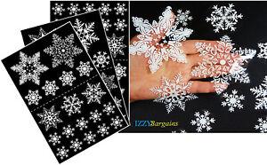 57-x-Natale-fiocco-di-neve-adesivi-si-aggrappa-Riutilizzabile-Casa-Decorazione-da-finestra-V2