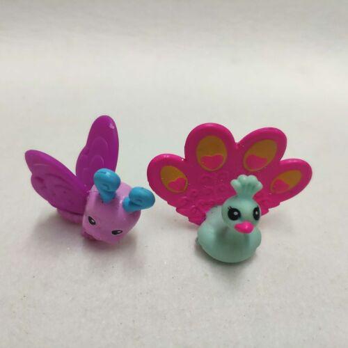 Lot of 2pcs My Little Pony Friend Animal Pet G4 Butterfly /& Peacock Mini Figures