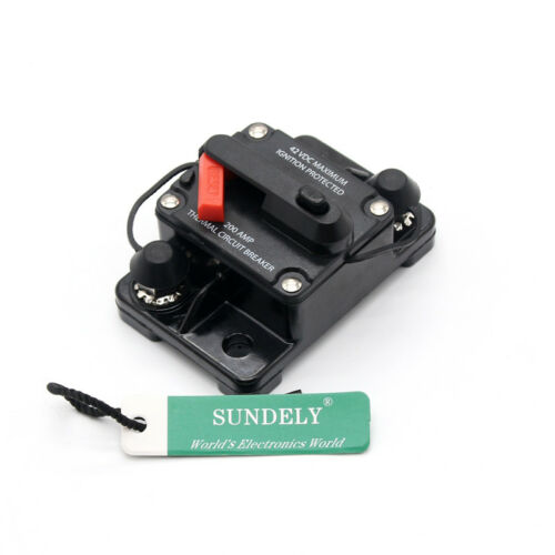 DC12V-42V 50A-250A Car Stereo Audio Inline Reset Circuit Breaker Manual Reset UK