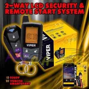new viper 5305v 2015 model 2 way car alarm and remote start vsm350 smart start. Black Bedroom Furniture Sets. Home Design Ideas