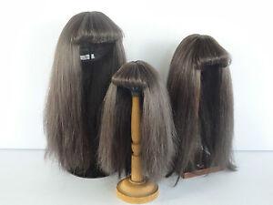 PARRUCCA-100-capelli-naturali-T5-25-5cm-per-BAMBOLA-VINTAGE-G-BRAVOT