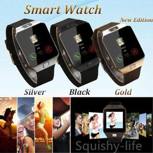 6aaf3b89134b0 La imagen se está cargando DZ09-Bluetooth-telefono-inteligente-Reloj-IOS- Android-hombre-
