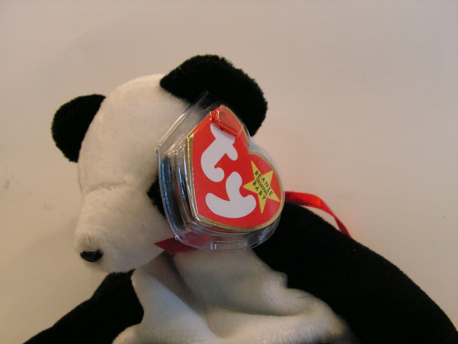 Ty Original Original Original Beanie Baby Rare HTF Panda Bear Retired Plush Stuffed Animal Toy b6f43d