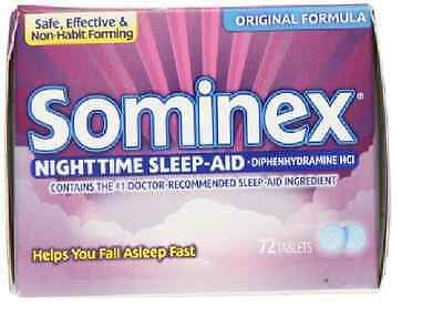 Sominex Original Tablet 72 ct Sleep Aid Falling Asleep