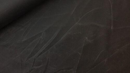 Oil skin impermeable antracita piel de imitación Vegan 100/% algodón