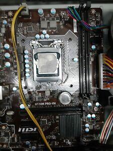 MSI H110M PRO-VH SOCKET 1151 6 Gen , plus intel i5 6500 and fan