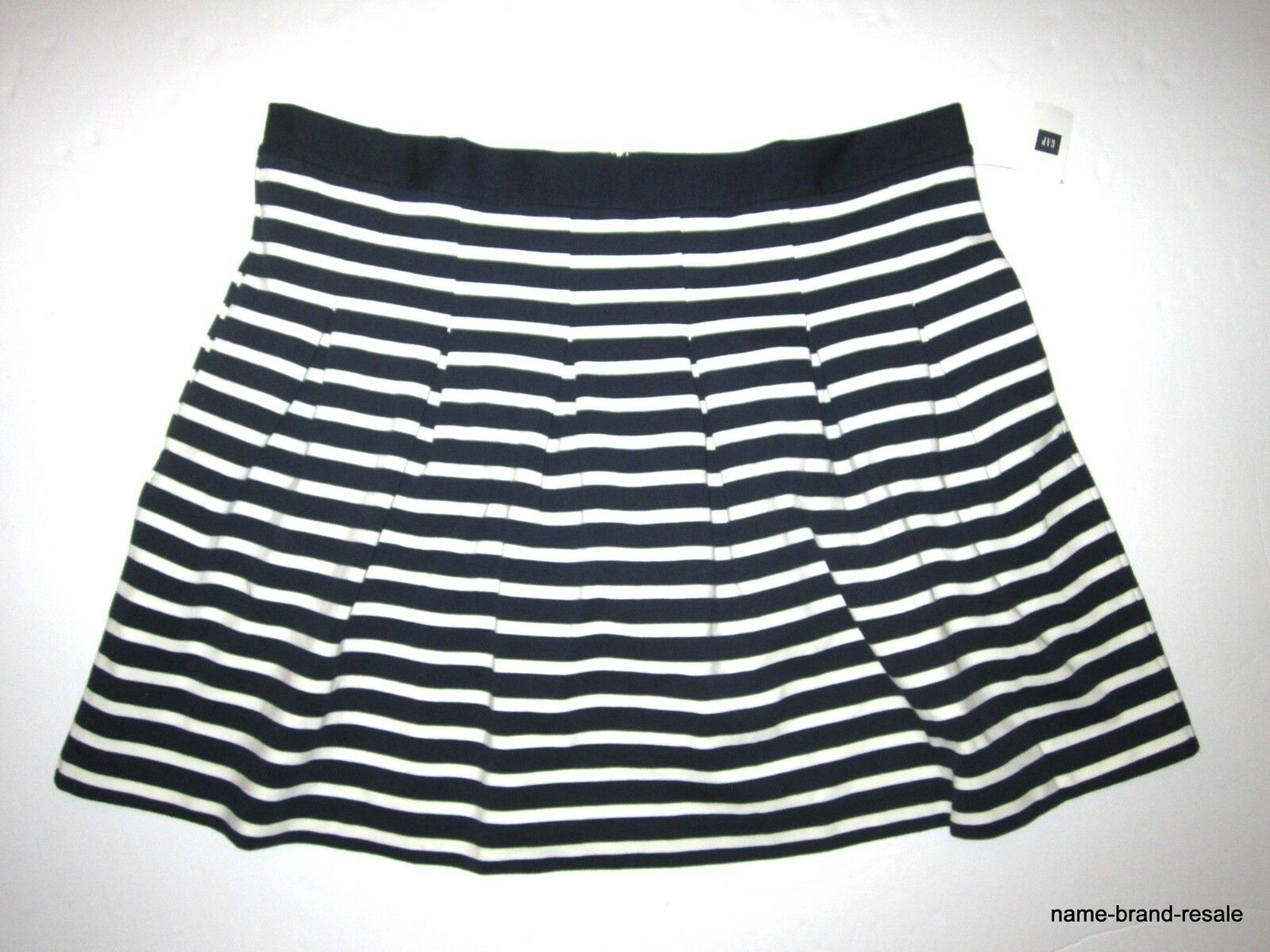 GAP NWT  34 Womens XXL Flare SKIRT Striped navy White Nautical Preppy NEW