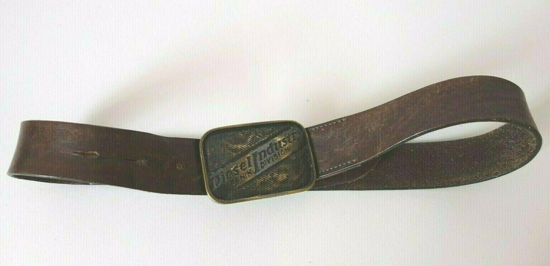 Diesel Industry Denim Division Leather Belt Vintage Size 70/71 28 XS S Brown
