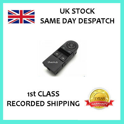 NEW FOR VAUXHALL ASTRA H ZAFIRA B ELECTRIC FRONT WINDOW MIRROR SWITCH 13215152