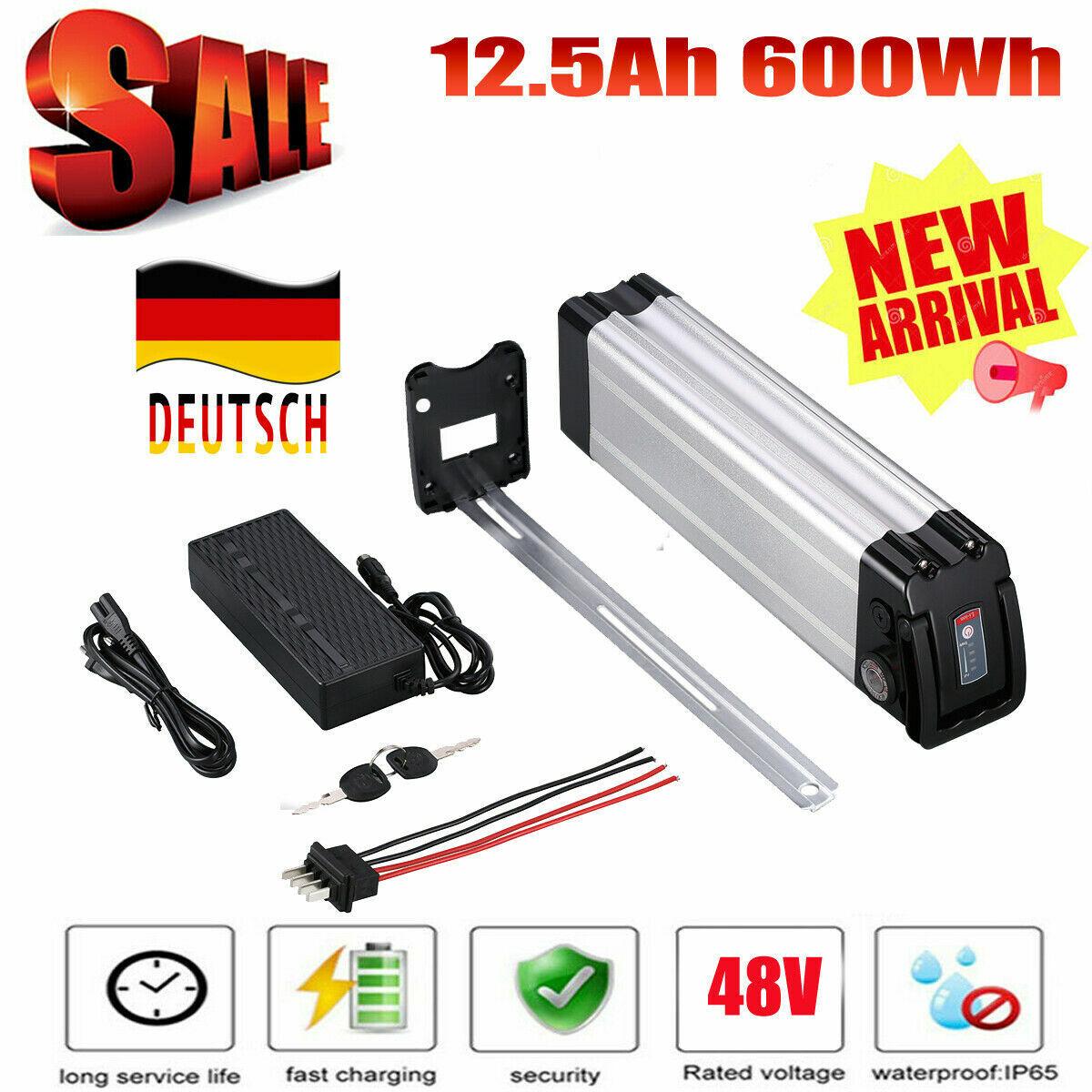 48v 12.5ah 600wh EBike Pedelec Bici Elettrica Batteria Batterie Con Caricabatterie 2.5a