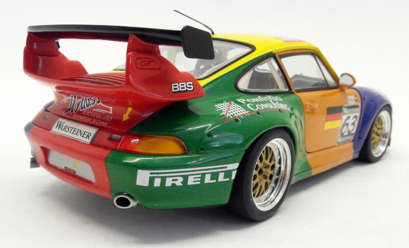 UT UT UT Models 1 18 Scale diecast 19april2018j Porsche 911 GT2 Krauss Racing + Case ae9d62