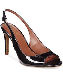 2f86c76ffa4 Cole Haan Women s Juliana Open Toe Sling dress Sandal BLACK PATENT ...