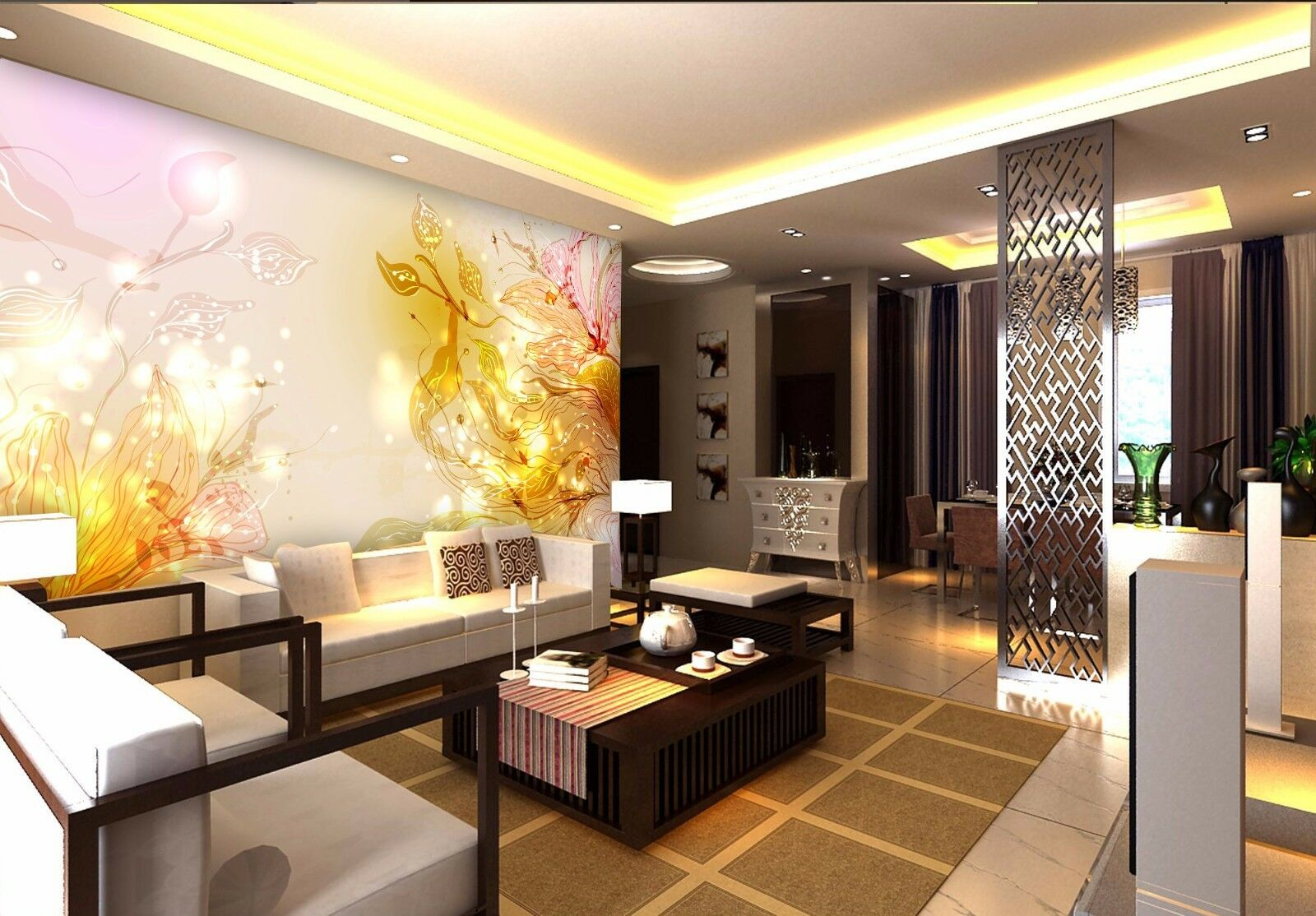 3D Luxury Gold Laces 8 Wall Paper Murals Wall Print Wall Wallpaper Mural AU Kyra