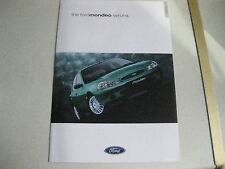FORD MONDEO MK2 VERONA 3/2000 8 PAGE FULL RANGE BROCHURE FREE UK POSTAGE