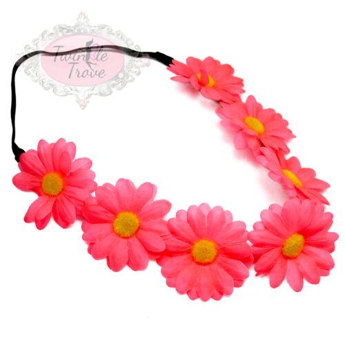 Boho Floral Chic Festival Bridal Wedding Daisy Flower Garland Headband Hairband