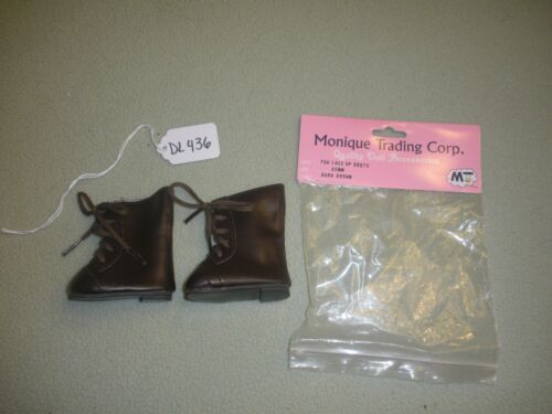 Size 65MM DL436 Dk Brown 796 Lace Up Boots Doll Shoes Monique Trading Corp