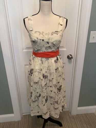 Maeve Anthropologie Dog Print Dress Size 8