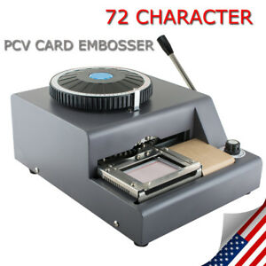 72Character Letter Manual Embosser PVC Stamping Credit Card Embossing Machine US