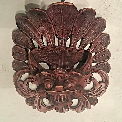 Balinese Mask Boma Barong Hindu Rakshasa Demon Bali Wall Art Hand carved wood