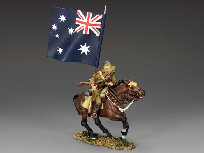 KING AND COUNTRY Mounted Australian  Aussie  Flagbearer AL26 AL026