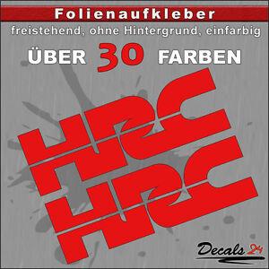 2er-SET-HRC-Sponsoren-Folienaufkleber-Auto-Motorrad-30-Farben-15cm
