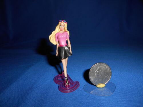 """BARBIE BLACK SKIRT 2.5/"""" Mini Plastic Figurine KINDER SURPRISE Figure MATTEL 2012"""