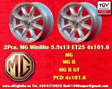 2 Cerchi MG B Series Minilite 5.5x13 PCD 4x101 Wheels Felgen Llantas Jantes TUV