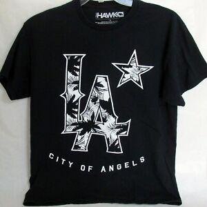 Tony Hawk LA City of Angels Graphic Tee Black T Shirt Size Large
