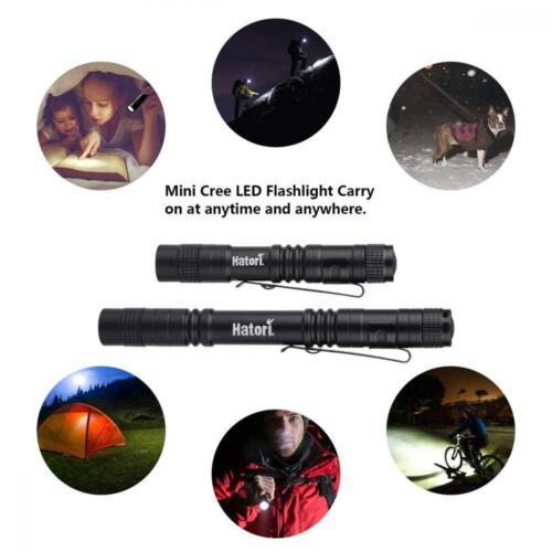 Hatori Super Petit Mini DEL Lampe de poche Set Battery-Powered Portable... 4 Pack