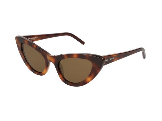 Dettagli su Occhiali da Sole Yves Saint Laurent SL 213 LILY havana marrone donna 006
