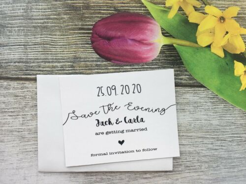 Personalised Wedding Save The Evening Date Cards Magnet Envelopes Day F53A7E