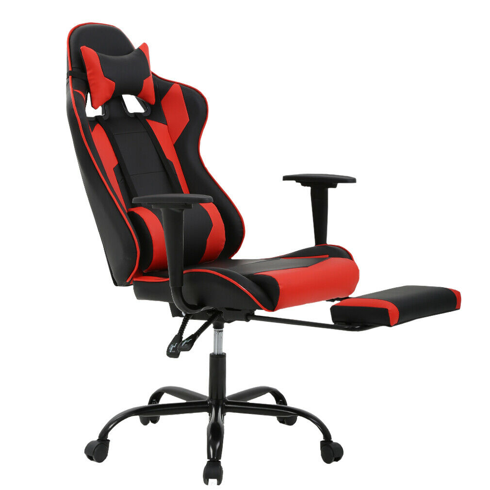 Details About New Gaming Chair High Back Office Racing Style Lumbar Support Headrest