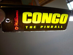 Congo-Pinball-Key-Chain-Original-NOS-Plastic-Promo-Rectangular-Game-Logo-Artwork