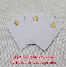 4x Plain White PVC Plastic Sle4428 Chip Smart Card Inkjet Printable for Epson