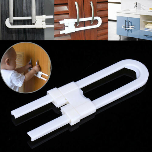 Baby Safety Lock U Shape Security For Cabinet Children Cupboard Door Drawer