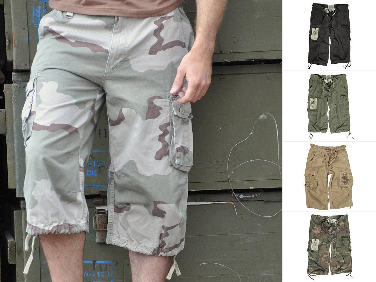Mil-Tec Air Combat 3 4 Pants Prewash Hose Kurz Sommerhose Freizeithose XS-3XL