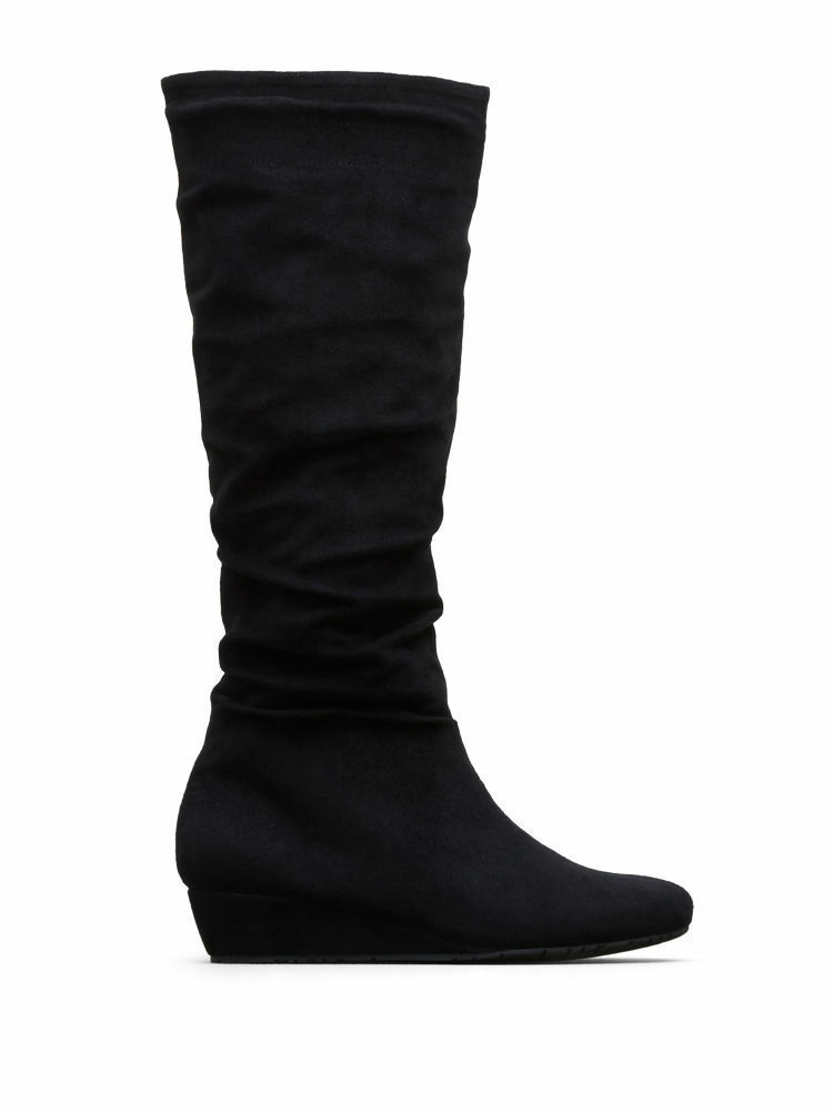 Kenneth Cole Women's Fire Drill Stack Boot, Black, Size 6 Med.,MSRP $129
