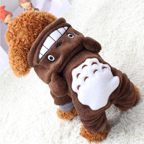 Sweat à Capuche Costume CHAT//Vêtements pour chien Pet Veste Manteau Puppy ( chinchillas Costume )