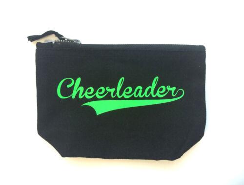 Kosmetiktasche schwarz glitzer neon Cheerleader Schminktasche Cheerleading