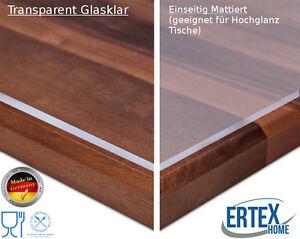 tischdecke tischfolie transparent glasklar mattiert tischschutz folie 2 2 mm ebay. Black Bedroom Furniture Sets. Home Design Ideas