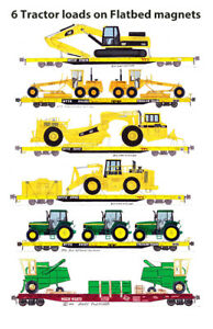 Tractor Loads on Flatcars 6 magnets by Andy Fletcher