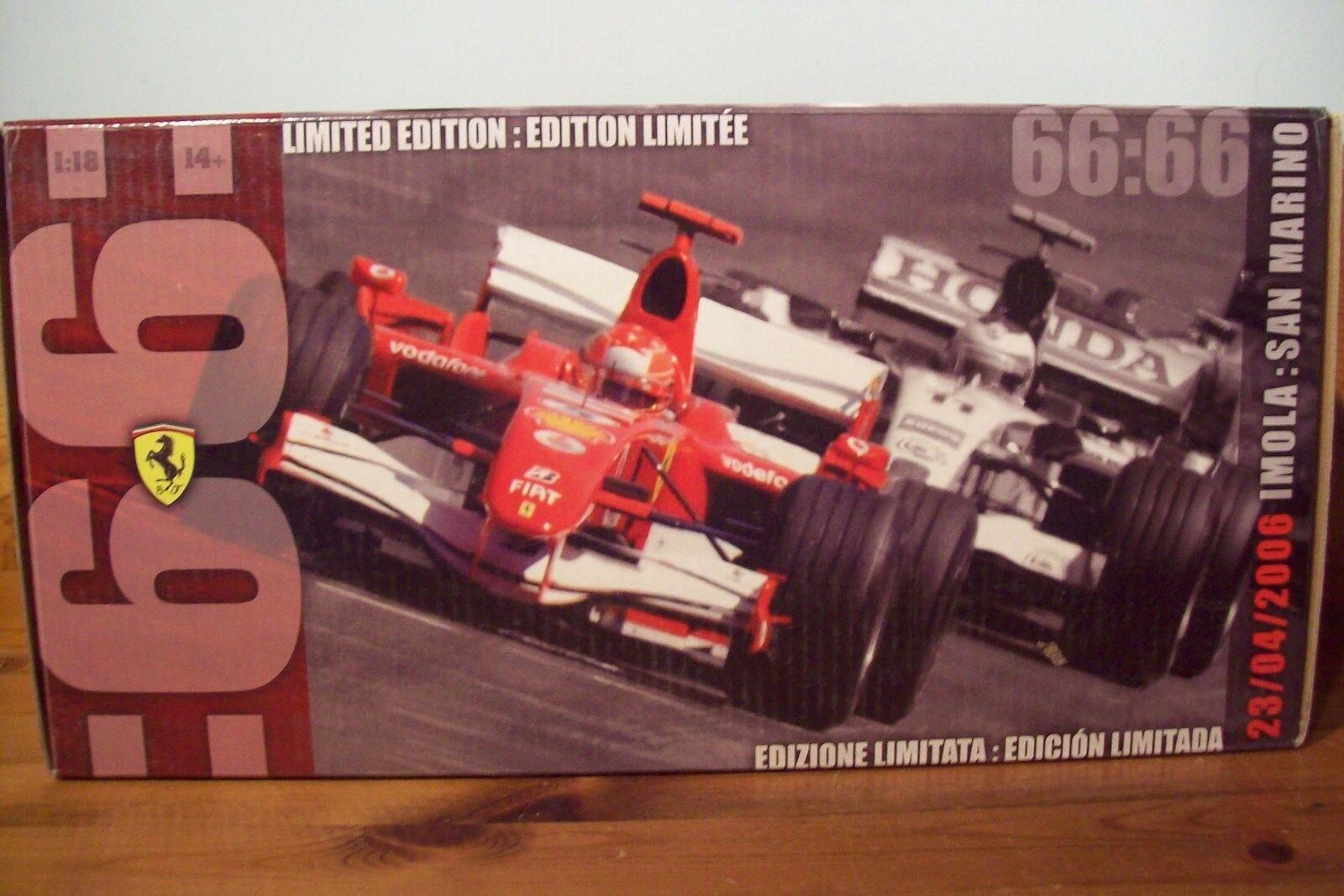 Offre festive de de de la nuit du carnaval de Noël à Noël 1/18 Michael Schumacher Ferrari 248F1 2006 66 Pôles | Un Prix Raisonnable  9a4a8b
