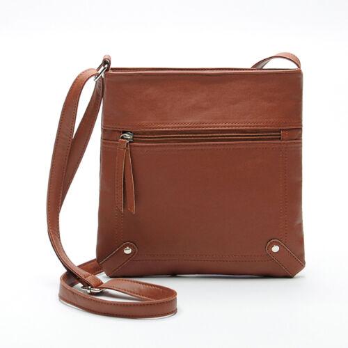 Fashion Womens Leather Satchel Cross Body Shoulder Messenger Bag Handbag Ornate
