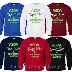 1c97ca1c0 ASDA Smart Price Funny Joke XMAS Present Sweatshirt Mens Ladies ...