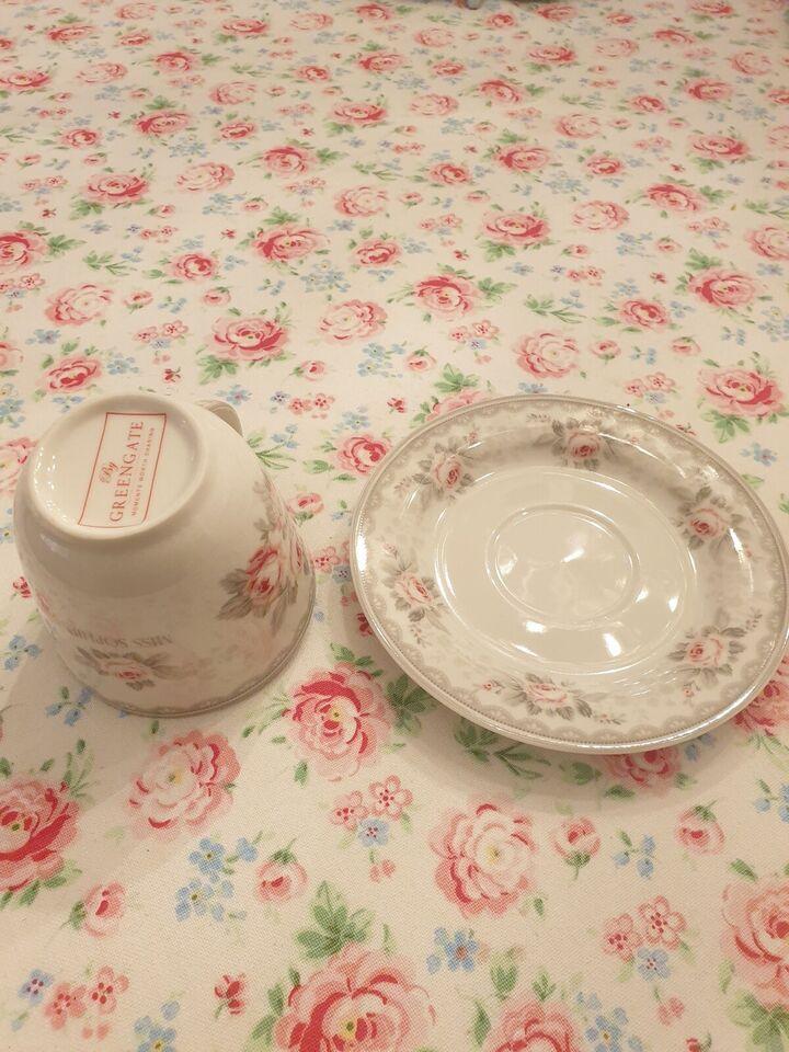 Porcelæn, Kop med underkop, Greengate