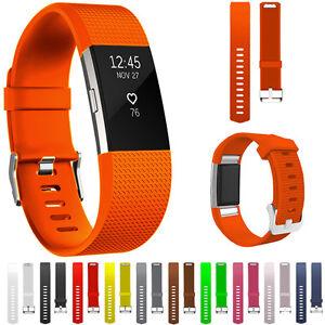 MODA-Repuesto-Silicona-Correa-de-reloj-brazalete-para-Fitbit-Charge-2-wristband