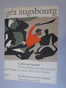 AFFICHE-GEA-AUGSBOURG-CHINE-SANS-LEGENDE-1961-LITHOGRAPHIE-50X70-cm