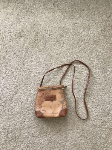 Vintage Brown World Map Print Small Bag