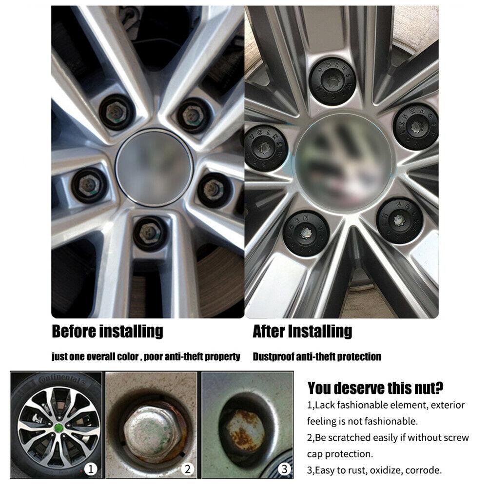 20 Black Wheel Nut Nut Alloy Rims Nissan Note